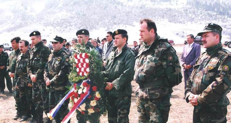Kupres - 10.04.1996. - Marko Babič drugi s desna
